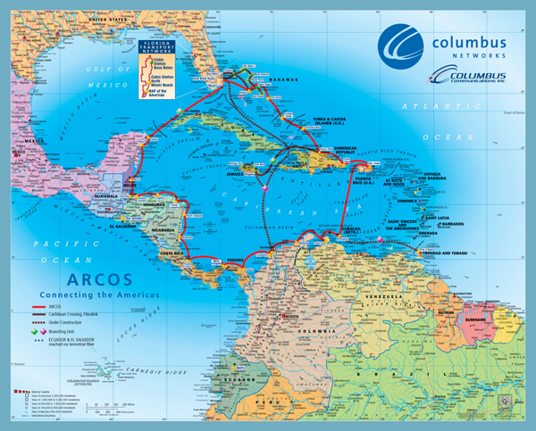 Caribbean Central America Map
