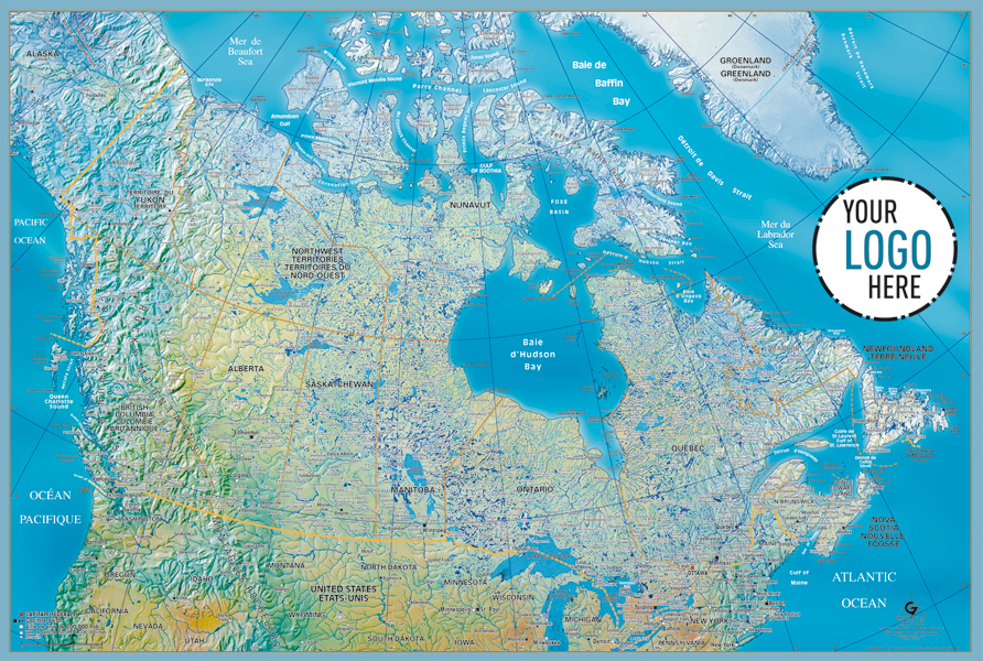 GABELLI US INC V - Canada and us physical map